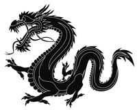 Dragon. Abstract vector illustration of dragon Royalty Free Stock Images