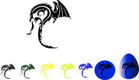 Dragon. The dragon with wings and fire from a mouth, a dragon which attacks Stock Photo