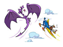 Dragon acrobatics Stock Photography