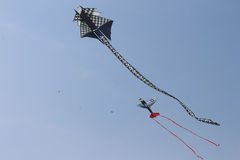 Dragon and Aeroplane Kites Stock Image