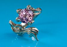 Dragon Amethyst Ring Stock Photography
