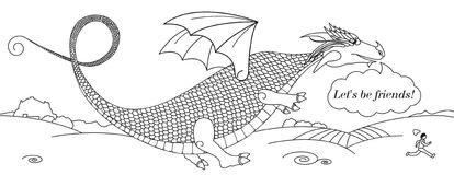 Dragon amical Photo libre de droits