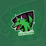 Dragon logo, gaming logo design vector illustration