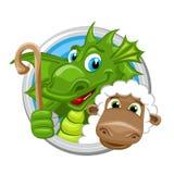 Dragon Aries Zodiac-teken Royalty-vrije Stock Foto