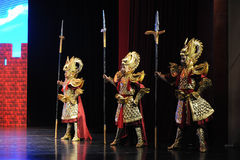 """Dragon Armor-Large scale scenarios show"""" The road legend"""". The drama about a Han Princess and king of Tibet Song Xan Gan Bbu and the story, across Shaanxi Stock Photo"""