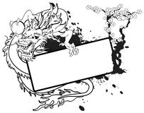 Dragon asian copyspace tattoo 8 Royalty Free Stock Photos