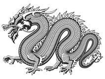 Dragon asiatique traditionnel illustration de vecteur