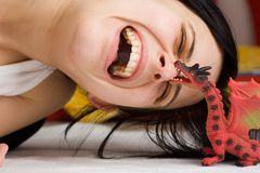 Dragon attack stock photography