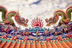 Dragon au tombeau Image libre de droits