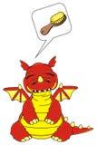 Dragon avec impétueux illustration de vecteur