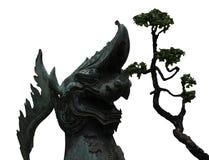 Dragon avec l'arbre gardant l'entrée au temple Photos libres de droits