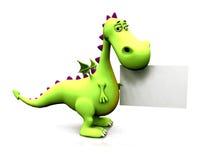 Dragon avec le signe Images stock
