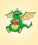 Dragon avec un cadeau. Humeur, traditi de surprise.symbol Images stock