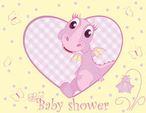 Dragon for baby girl Stock Image