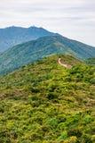 Dragon back trail in Hong Kong. Dragon back trail, hiking pathway in Hong Kong Royalty Free Stock Photo
