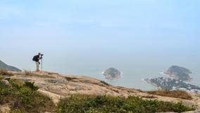 Dragon Back trail in Hong Kong stock photography