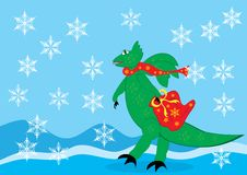Dragon on the  background Royalty Free Stock Images