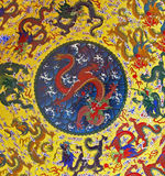 Dragon  Background. Made of Asian ornament Stock Photo