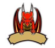 Dragon Badge Royalty Free Stock Image