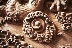 Dragon ball carvings Stock Photos