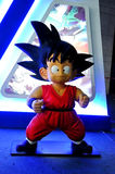 DRAGON BALL Hero Son Goku Statue. The cute statue of Son Goku-the hero in famous cartoon Dragon Ball.Taken at the Film Technology and Art Exhibition in Chongqing Royalty Free Stock Photos