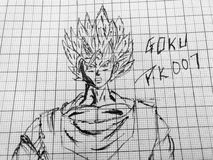 The Dragon Ball Z Sketch. The perfect sketch of goku Stock Photo