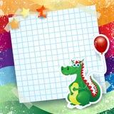 Dragon and balloon, custom background Stock Photos
