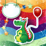 Dragon and balloon, custom background Stock Image