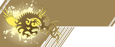 Dragon banner. Text area with dragon design.Useful header or banner concept Stock Image