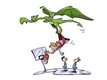 Dragon basketball assist Stock Photos