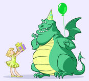 Dragon birthday Stock Photos