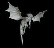 Dragon blanc Photo libre de droits