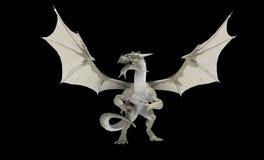 Dragon blanc illustration libre de droits