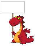 Dragon and blank. Illustration of a dragon and blank Royalty Free Stock Images