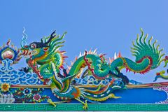 Dragon with blue sky Royalty Free Stock Photography
