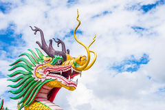 Dragon with blue sky. Royalty Free Stock Image