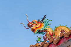Dragon on blue sky Royalty Free Stock Image