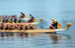 Dragon Boat. Competition Motion Blur Stock Photo