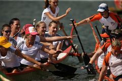 Dragon boat. Royalty Free Stock Photography