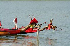 Dragon boat. Chinese dragon-boat race is a traditional activity in the South Royalty Free Stock Photography