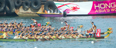 Dragon boat competition Royalty Free Stock Photos