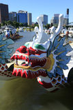 Dragon boat, downtown marina Portland OR. Stock Photography