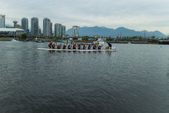 Dragon boat on false creek Royalty Free Stock Image