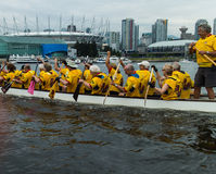 Dragon boat on false creek Royalty Free Stock Photography