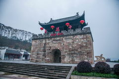 Dragon Boat Festival Building von Qu Yuan Temple herein Lizenzfreie Stockfotografie