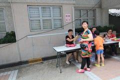 Dragon Boat Festival Carnival tradicional 2015 em Hong Kong imagens de stock