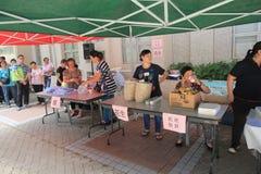 Dragon Boat Festival Carnival tradicional 2015 em Hong Kong imagens de stock royalty free