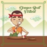 Dragon boat festival cartoon design. Dragon boat festival cartoon icon vector illustration graphic Royalty Free Stock Images