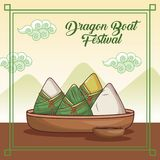 Dragon boat festival cartoon design. Dragon boat festival cartoon icon vector illustration graphic Royalty Free Stock Photos