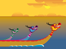 Dragon boat festival. Chinese Dragon boat festival illustration Stock Image